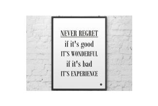 DEKOSIGN, DEKOSIGN, NEVER REGRET 50X70