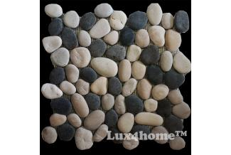 LUX4HOME, OTOCZAKI, OTOCZAKI MOZAIKA MIX BLACK & WHITE & TAN 30X30