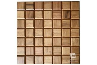 NATURAL WOOD PANELS, CHOCO, CHOCO 8 DOUSSIE MINI PANEL DREWNIANY 3D 35X35X1.5
