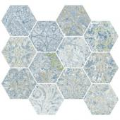 APARICI BOHEMIAN BLUE NATURAL HEXAGONAL MOZAIKA 28X30