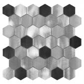 DUNIN, ALLUMI GREY HEXAGON MIX 48 MOZAIKA METALOWA 28.7X29.9  z kolekcji METALLIC