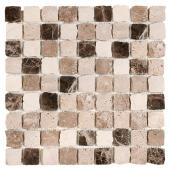 DUNIN, TRAVERTINE BEND MIX 32 MAT MOZAIKA KAMIENNA 30.5X30.5  z kolekcji TRAVERTINE EMPERADOR