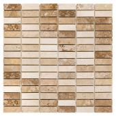 DUNIN, TRAVERTINE BLOCK MIX 48 MOZAIKA KAMIENNA 30.5X30.5  z kolekcji TRAVERTINE EMPERADOR