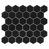 DUNIN, HEXAGON BLACK 51 MATT MOZAIKA 32X28  z kolekcji HEXAGONIC