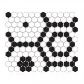 DUNIN, MINI HEXAGON B&W BEE MOZAIKA 26X30  z kolekcji HEXAGONIC