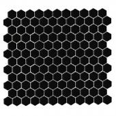 DUNIN, MINI HEXAGON BLACK MOZAIKA 26X30  z kolekcji HEXAGONIC