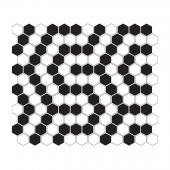 DUNIN, MINI HEXAGON B&W CORAL MOZAIKA 26X30  z kolekcji HEXAGONIC