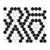 DUNIN, MINI HEXAGON B&W LACE MOZAIKA 26X30  z kolekcji HEXAGONIC