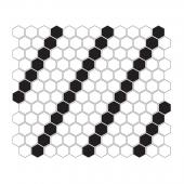 DUNIN, MINI HEXAGON B&W LEAN MOZAIKA 26X30  z kolekcji HEXAGONIC