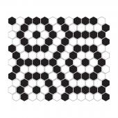 DUNIN, MINI HEXAGON B&W NANO MOZAIKA 26X30  z kolekcji HEXAGONIC
