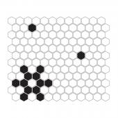 DUNIN, MINI HEXAGON B&W SNOW MOZAIKA 26X30  z kolekcji HEXAGONIC
