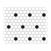 DUNIN, MINI HEXAGON B&W SPOT MOZAIKA 26X30  z kolekcji HEXAGONIC
