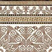 GOLDEN TILE, MEANDER BEIGE BORDER DEKOR 40X40  z kolekcji MEANDER