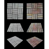 LUX4HOME GEDEK STYLE RED STONE MOZAIKA 30X30