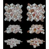 LUX4HOME MIX WHITE & RED MARBLE MOZAIKA 30X30